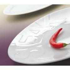 Тарелка для стейка 305 мм с теснением Rita Lubiana