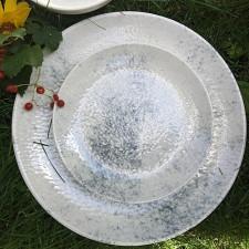 """Тарелка мелкая круглая 270 мм """"Smoky Alumilite"""" Porland"""