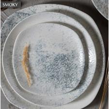 "Тарелка глубокая квадратная 220 мм ""Smoky Alumilite"" Porland"