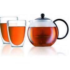"""Чайник  заварочный """"френч-пресс"""" с пластиковым фильтром ASSAM,1 л Bodum"""
