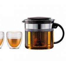 Чайник заварочный с пластиковым фильтром BISTRO, 1 л Bodum