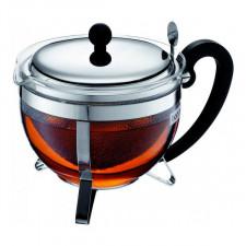 Чайник  заварочный с ситечком  из нержавеющей стали CHAMBORD, 1 л Bodum
