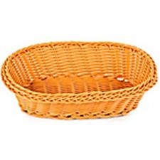 Корзинка для хлеба овал коричневая, Китай 24*17*7см