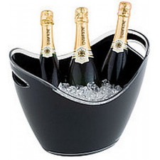 Чаша для шампанского 27х20см, h-21cм с 2-мя ручками, черная APS