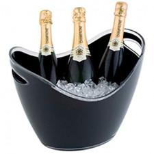 Чаша для шампанского 35х27см, h-25,5cм с 2-мя ручками, черный пластик APS