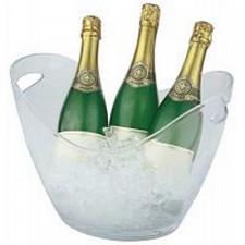 Чаша для шампанского 35х27см, h-25,5cм с 2-мя ручками, прозрачный пластик APS