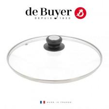 Крышка стекло/бакелит TWISTY 220*С, 20см, de Buyer