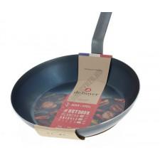 Сковорода 28 см, высокоуглеродистая сталь, FORCE BLUE, de Buyer