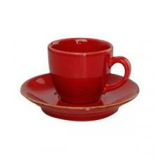 Sidina red Чашка кофейная 80 мл с блюдцем в наборе