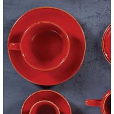 Sidina red Чашка чайная 200 мл с блюдцем 160 мм в наборе (322125.R + 132115.R)