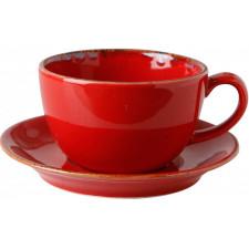 Sidina red Чашка чайная 320 мл с блюдцем 160 мм в наборе