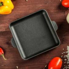Сковорода чугунная 18х18х2,5см квадратная Brizoll HoReCa