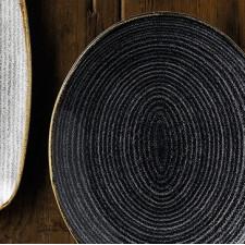 Тарелка овальная 31,7x25,2см STUDIO PRINTS HOMESPUN Charcoal Black