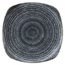 Тарелка квадратная 25,2см STUDIO PRINTS HOMESPUN Charcoal Black