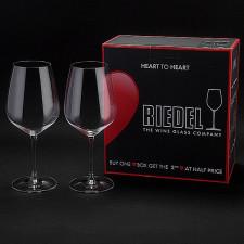 Набор бокалов (2 шт.)6409/0 для кр.вина_Cabernet-Sauvignon 0,8л_HEART TO HEART Riedel