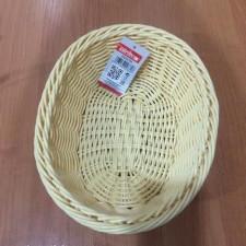 Корзинка бежевая, плетеная, пластиковая для хлеба 25х20см Empire