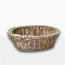 Корзинка бежевая, плетеная, пластиковая овальная для хлеба 25,5*20,5см Empire