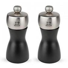 Мельница FIDJI для соли 12 см, чёрный матовый / нерж. Peugeot