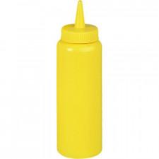 Бутылка для соуса 700 мл, d-70 мм, h-240 мм желтая Stalgast