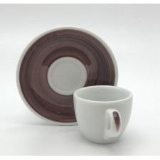 Блюдце espresso 12 см Brown Ancap