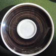 Блюдце caffe latte 16,7 см Black Ancap