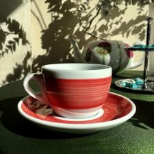 Чашка cappuccino 180 мл Red stroke B Ancap