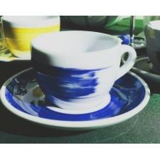 Чашка cappuccino large 260 мл Blue stroke B Ancap