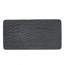 Тарелка прямоугольная 35*18,The Rock Black (10-4239-2281)V&B