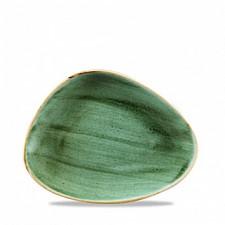 Блюдо треугольное глубокое 26,5*20,5см Stonecast Samphire Green  Churchill ПОД ЗАКАЗ упаковка-12шт