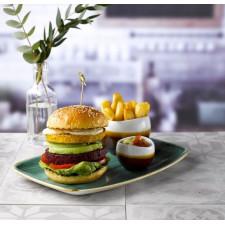 Блюдо прямоугольное 26,9*12,7см Stonecast Samphire Green  Chefs  Churchill ПОД ЗАКАЗ упаковка-12шт
