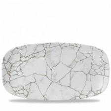 Блюдо прямоугольное 35.5X18.9см Kintsugi Agate Grey ПОД ЗАКАЗ упаковка-6