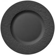 Тарелка черная с бортом 22 см THE ROCK (10-4239-2640) V&B