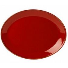 Блюдо овальное 240х190 мм Sidina red