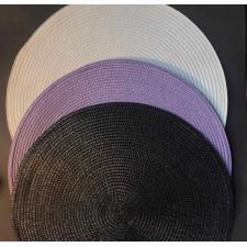 Салфетка сервировочная 37,5 см тканевая фиолетовая