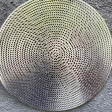 Салфетка сервировочная 40см, ажурная серебрянная из ПВХ