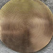 Салфетка сервировочная 40см, ажурная золотая из ПВХ