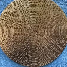 Салфетка сервировочная 38см ажурная бронзовая из ПВХ