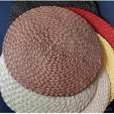 Салфетка сервировочная 38см  плетеная тканевая шоколадная