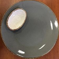 "Sidina серая Gray"" Тарелка круглая 280 мм"