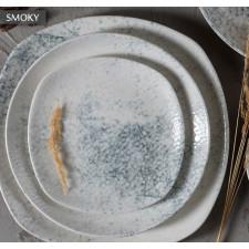 "Тарелка мелкая квадратная 190 мм ""Smoky Alumilite"" Porland"