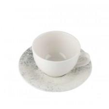"""Чашка чайная 215 мл с блюдцем 160 мм """"Smoky Alumilite"""" Porland"""