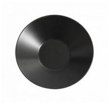 Тарелка глубокая черная матовая  23см,Н-5 см THE RESERVE