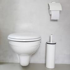 Держатель для туалетной бумаги- сталь, пластина крепления - пластиковая, белый CLASSIC