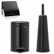 Держатель для туалетной бумаги- сталь, пластина крепления- пластиковая, черный матовый CLASSIC