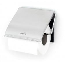 Держатель для туалетной бумаги- сталь, пластина крепления - пластиковая, стальной матовый