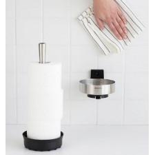 Диспенсер для туалетной бумаги (до 3х рулонов) нержавеющая сталь, пластиковое основание