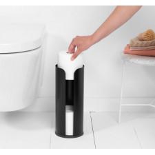Держатель для туалетной бумаги (до 3х рулонов)нержавеющая сталь, пластиковое основание