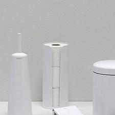 Держатель для хранения туалетной бумаги(до 3х рулонов)нержавеющая сталь, пластиковое основание