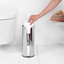 Держатель для хранения туалетной бумаги(до 3х рулонов)нержавеющая полированная сталь, пластиковое ос