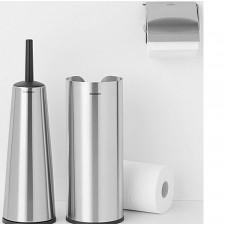 Держатель для хранения туалетной бумаги(до 3х рулонов) матовый-нержавеющая сталь, пластиковое основа